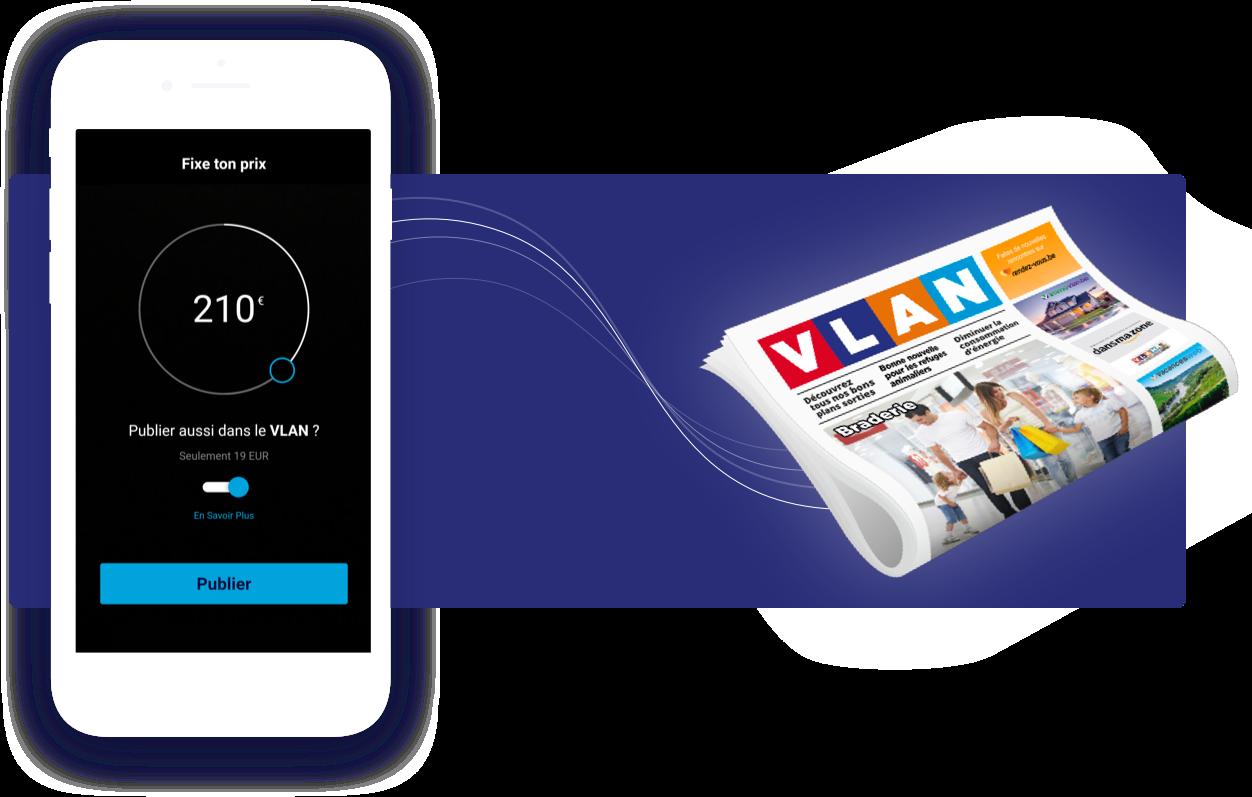 Envoyer ses petites annonces vers le journal VLAN à partir de l'App Scell en '1 clic' : une version papier de vos petite annonces pour seulement 19EUR